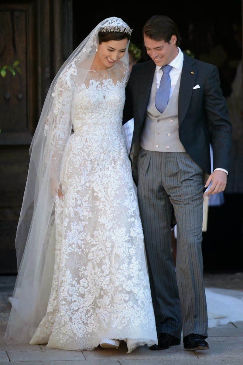 Hrh Prince Felix Of Luxembourg And Princess Claire Marry In Religious Wedding Ceremony Provence France 9212013: Princess Claire Wedding Dress At Websimilar.org