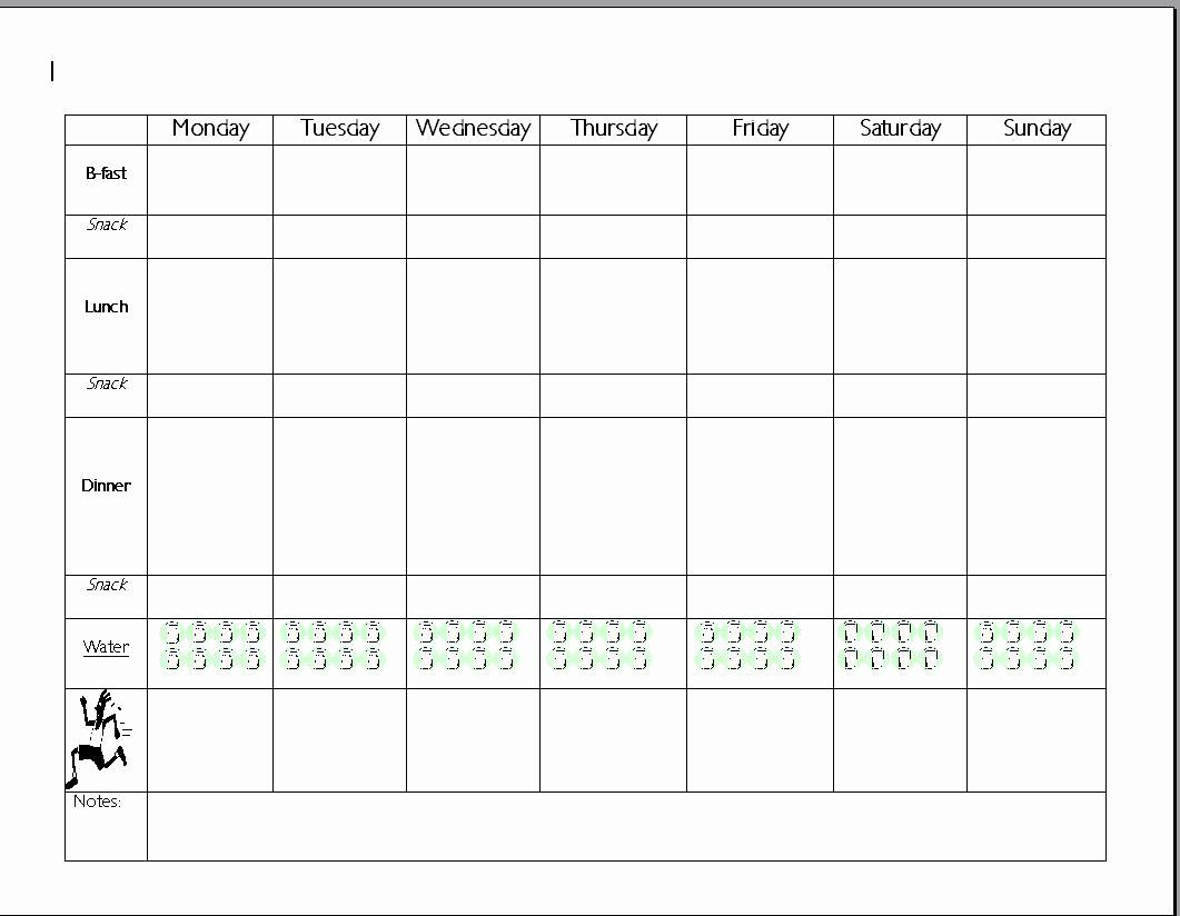 Pin On Online Project Planning Templates Weight watchers menu planner template