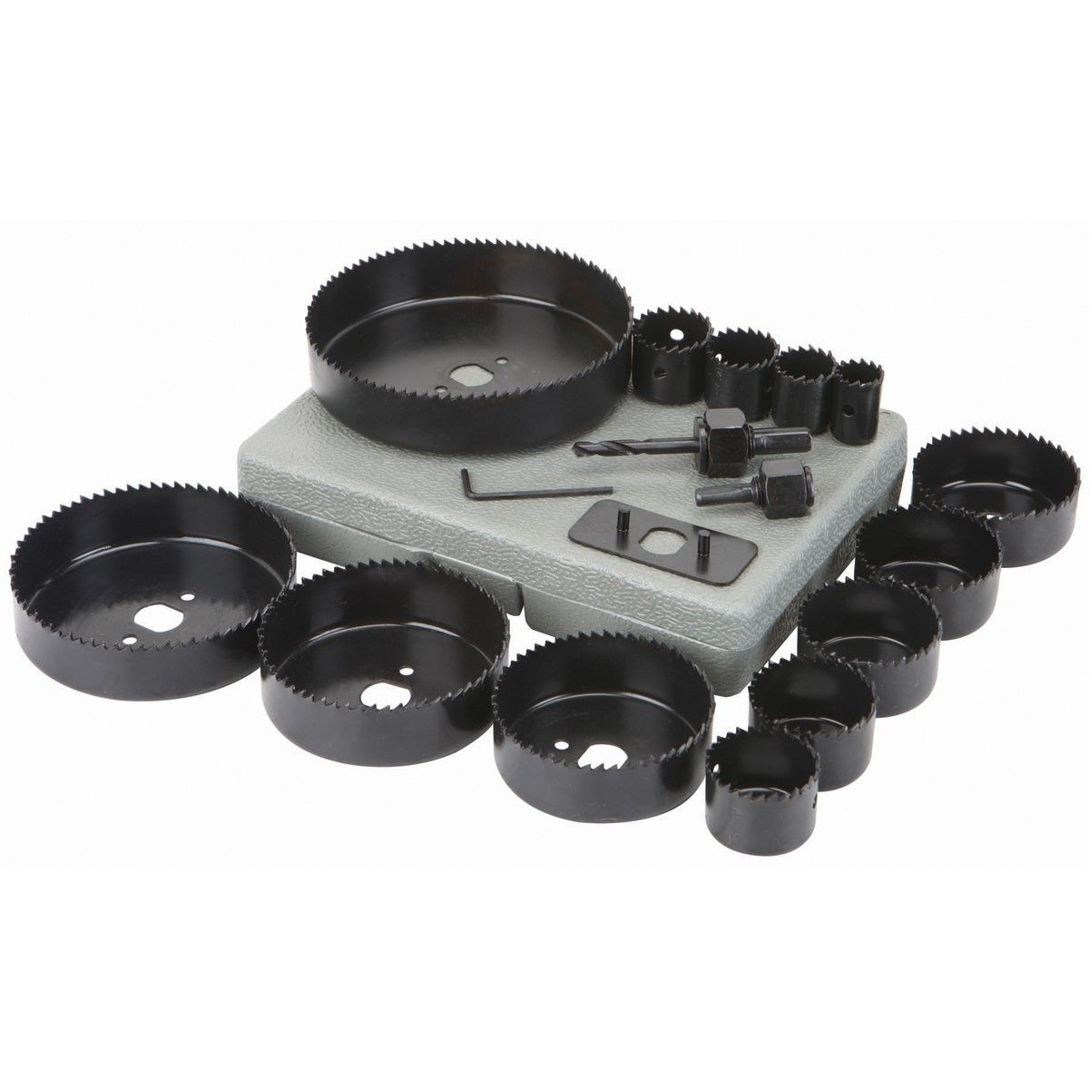 3 4 In 5 In Carbon Steel Hole Saw Set 18 Pc With Images Hole Saw Carbon Steel Saw Accessories