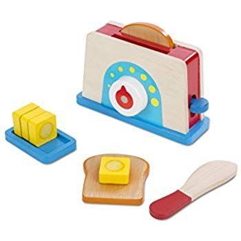 melissa doug bread and butter toaster set 9 pcs wooden play rh pinterest com