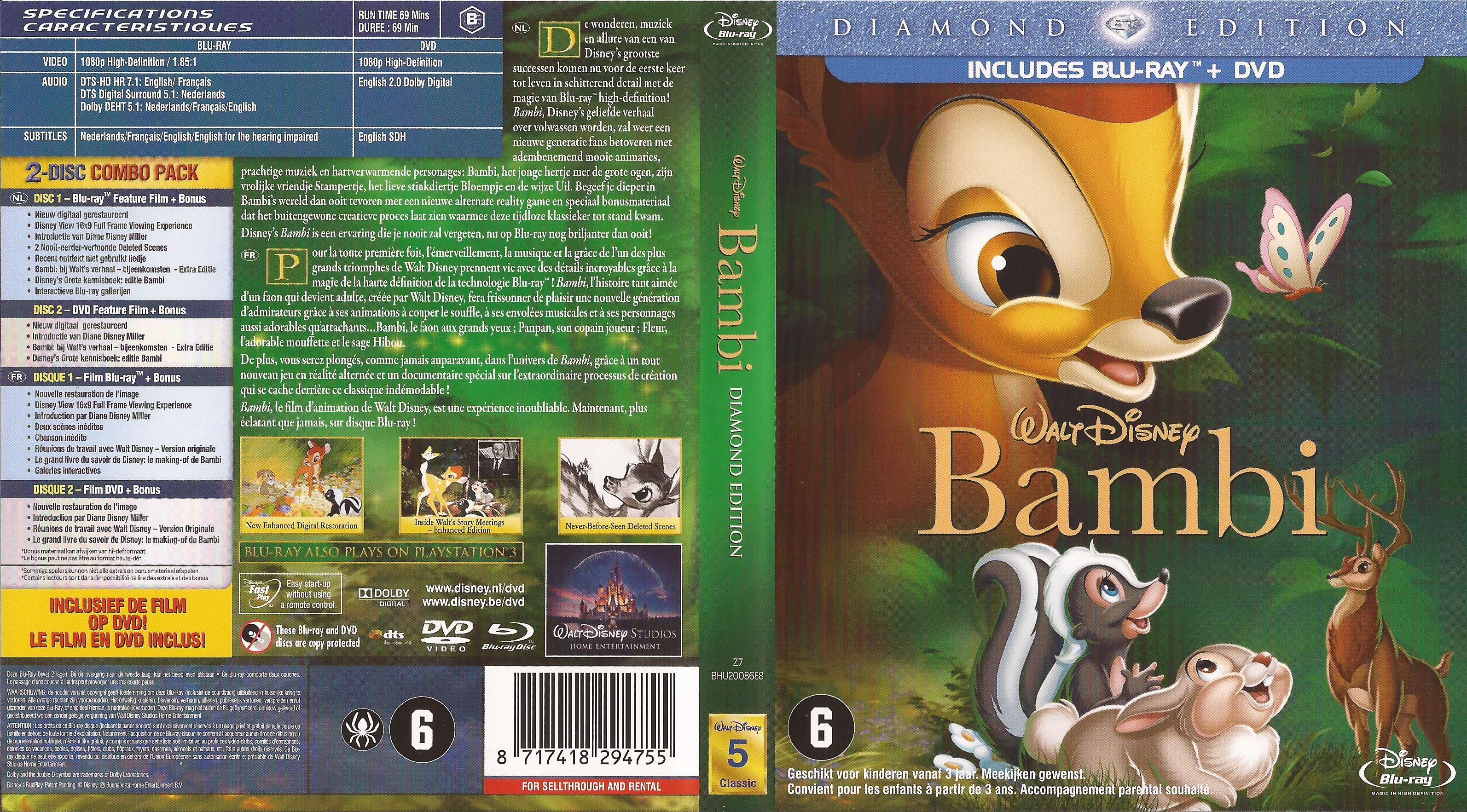 Ds 006 1942 Bambi Diamond Edition Includes Blu