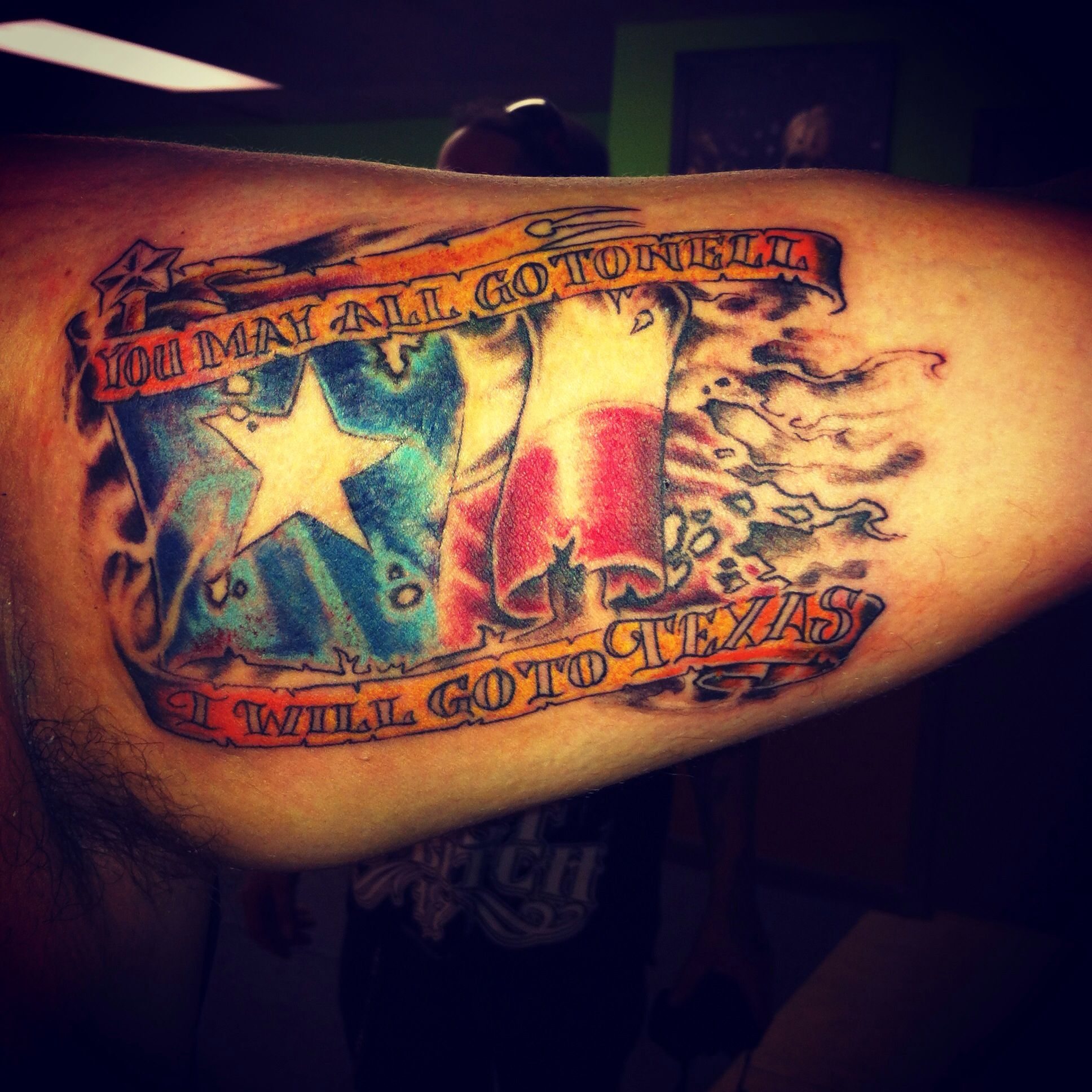 Best 25 texas flag tattoo ideas on pinterest american for Oklahoma flag tattoo