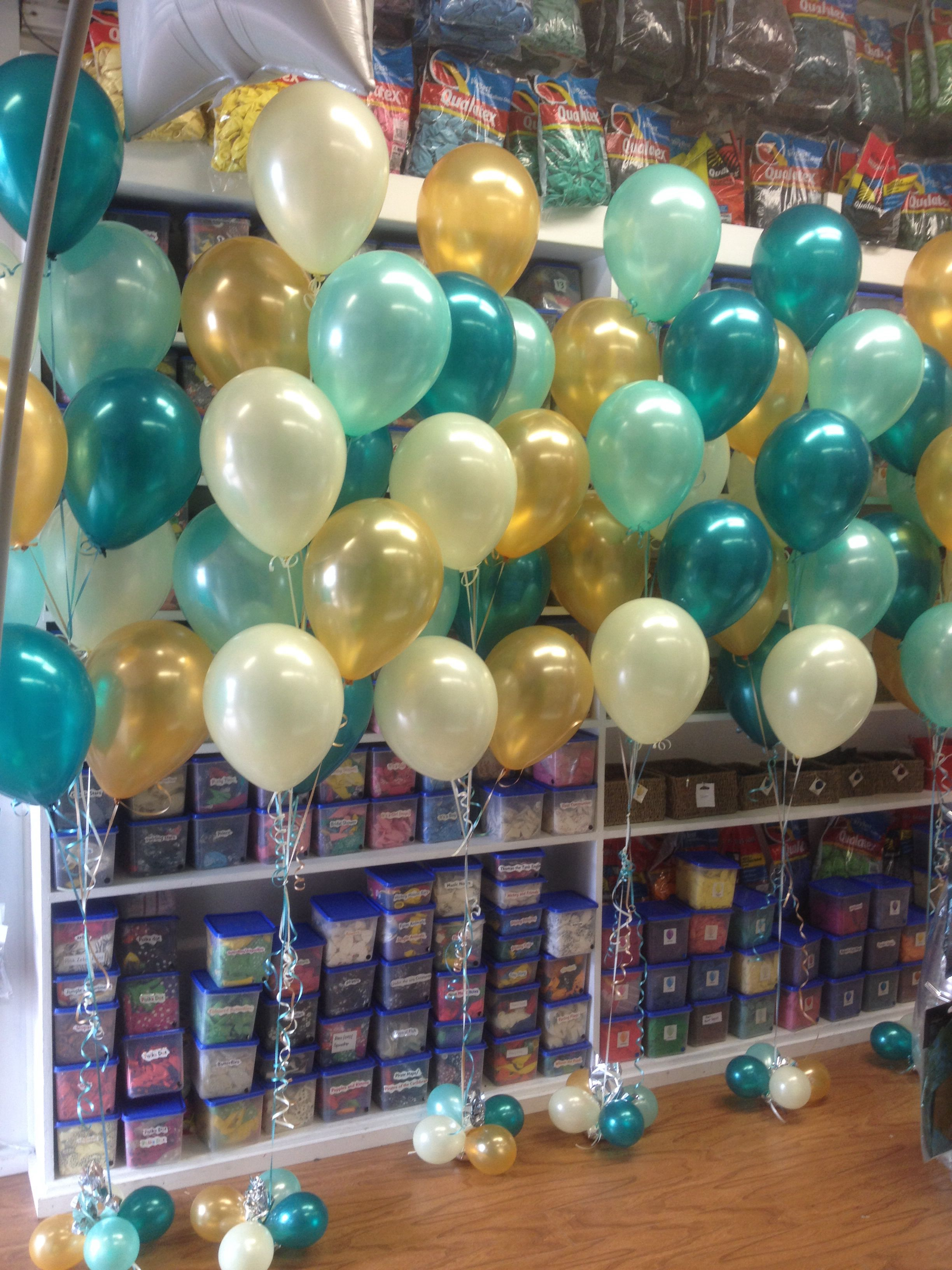 Green and Gold Balloon Decorations