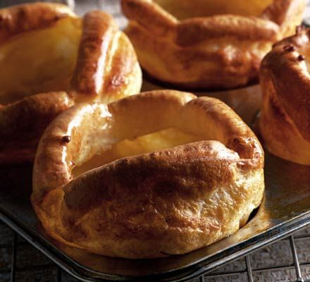 Ultimte yorkshire puddings.   These should ideally be served with meat and gravy (such as a roast dinner.)..yum!