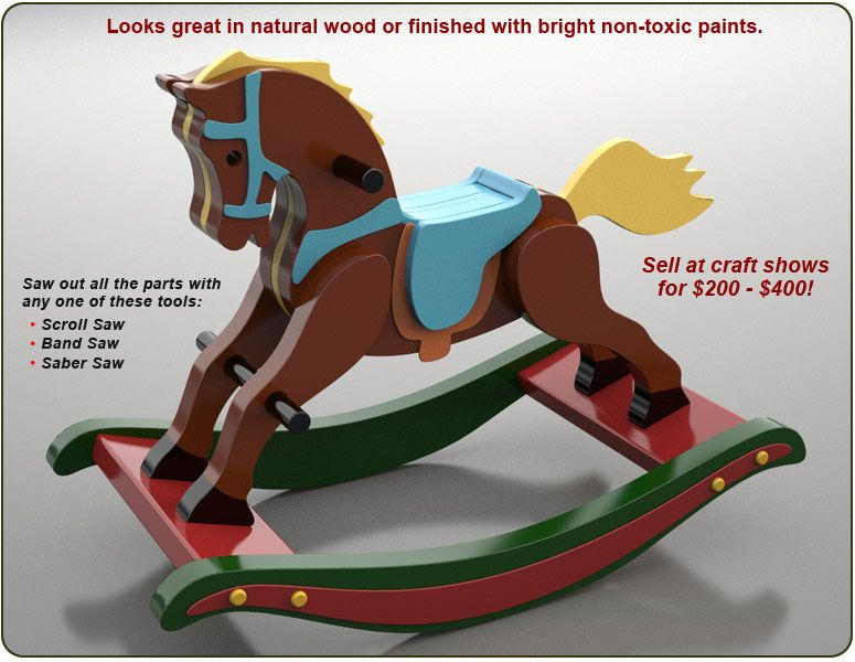 Quick n Easy Heirloom Rocking Horse Wood Toy Plan Set Love to