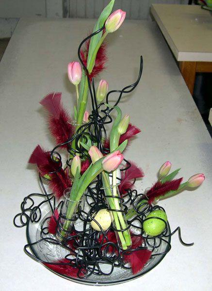 art deco flower arrangement les cours d 39 art floral. Black Bedroom Furniture Sets. Home Design Ideas