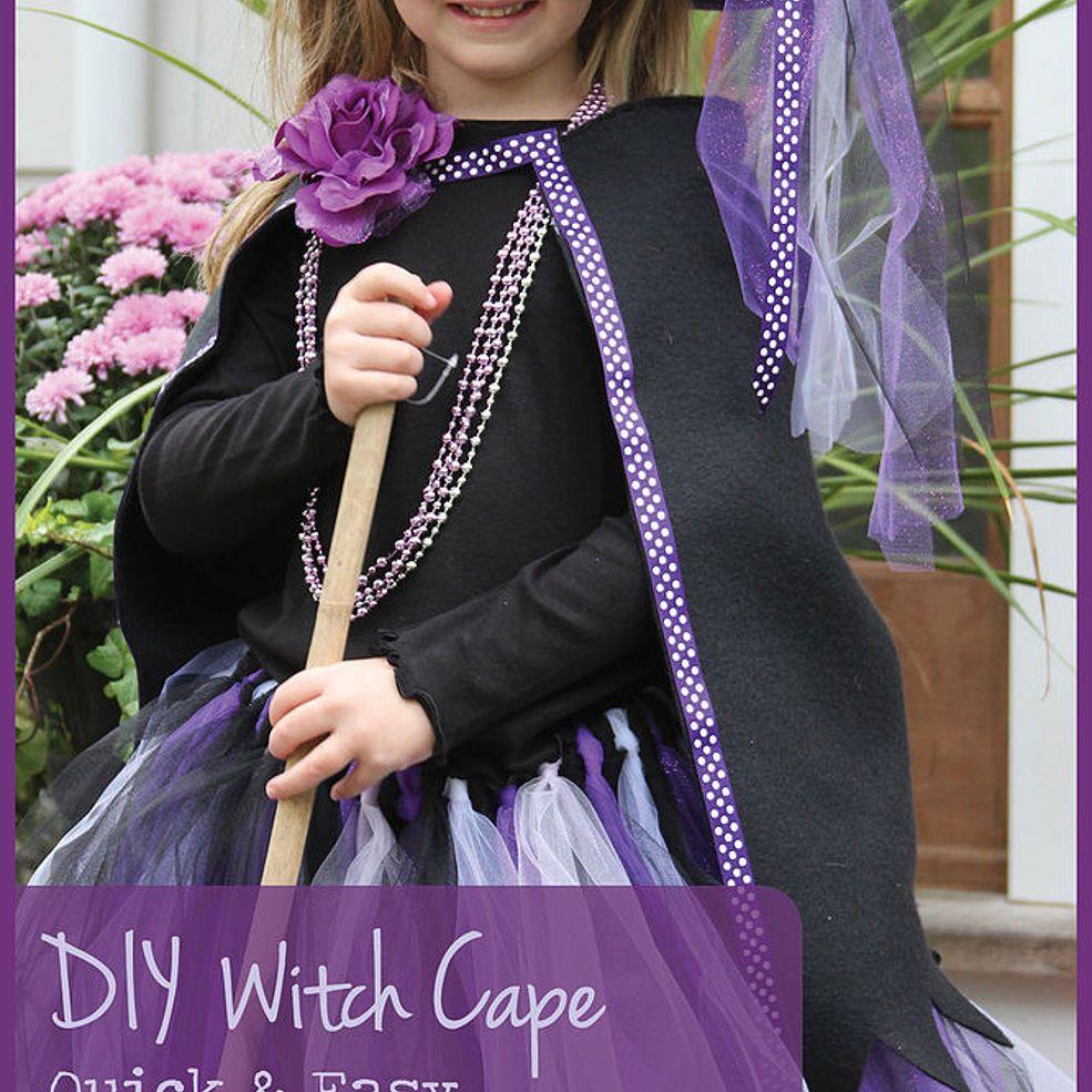 DIY Fleece Capes as Warm Halloween Costume Accessories