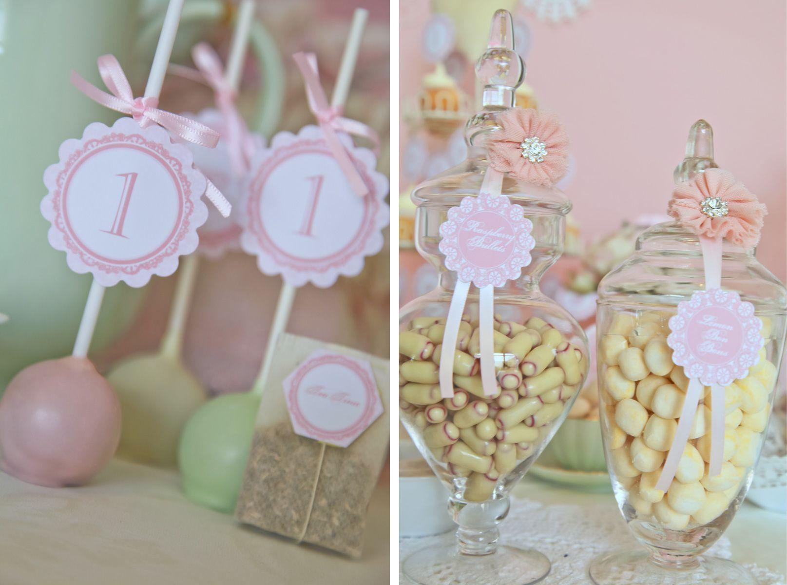 Vintage doily tea party details