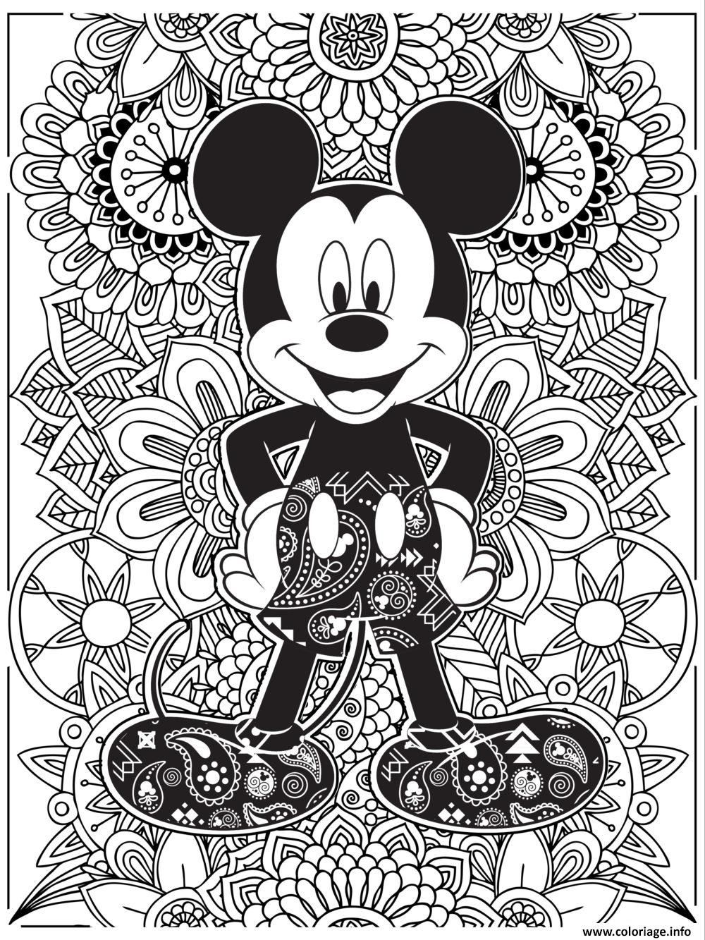 Coloriage Mandala Disney Mickeymouse Hd Dessin A Imprimer Coloring