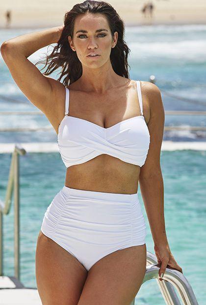 549294e8fb6 Valentine White Bandeau Bikini with Shirred Brief   Fashion ...