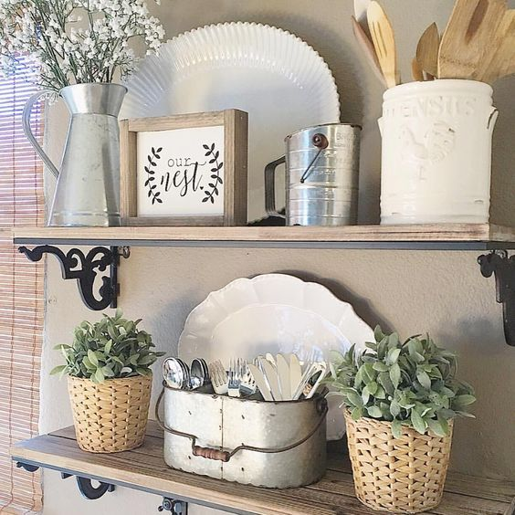 Kitchen Shelf Decor Amazon Cabinets Pin By Modern Moments Designs On Farmhouse Style Dining Room Shelves Living Wall Bathroom