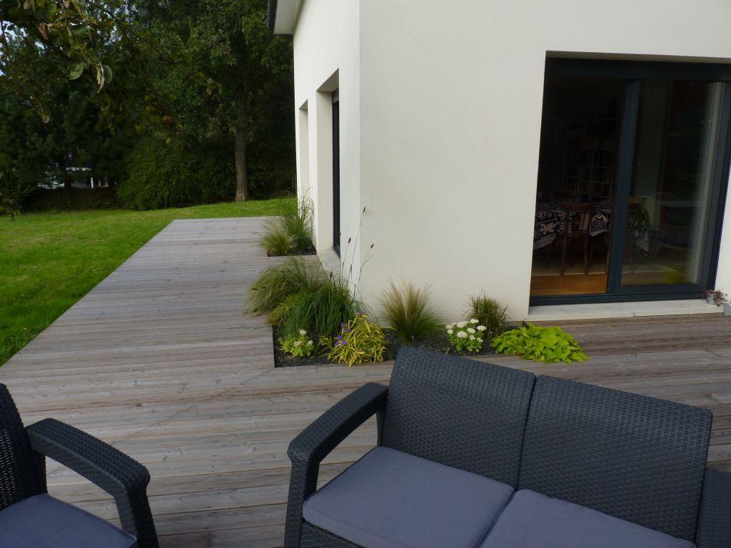 Plantations incrustées dans la terrasse tuin huis pinterest