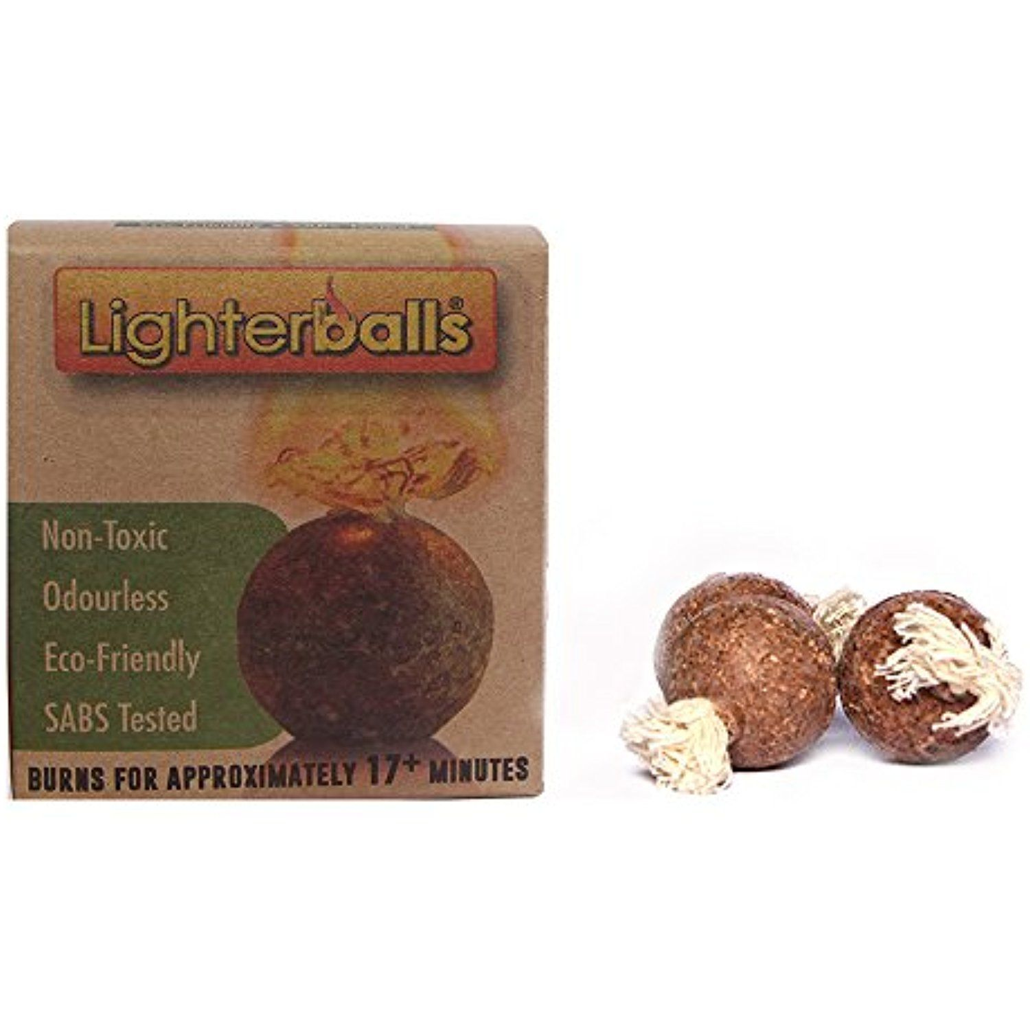 Lighter Ball Fire Starters Eco Friendly Non Toxic Odorless Lighters Pack