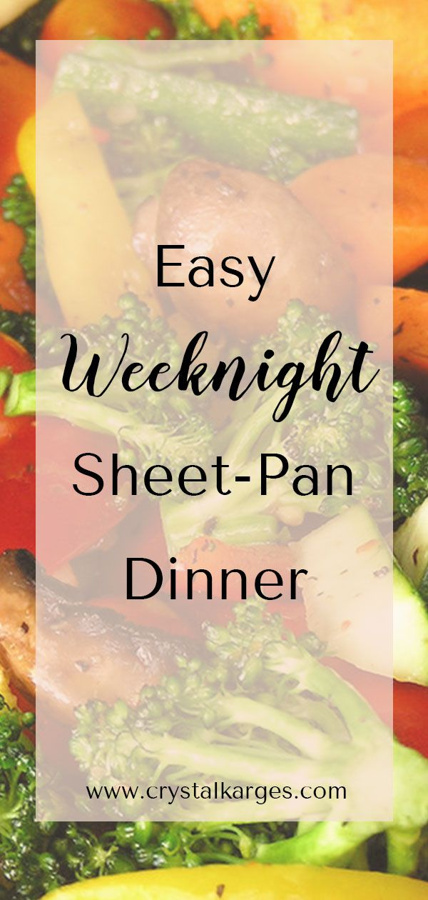 Easy Sheet-Pan Dinner #sausagedinner