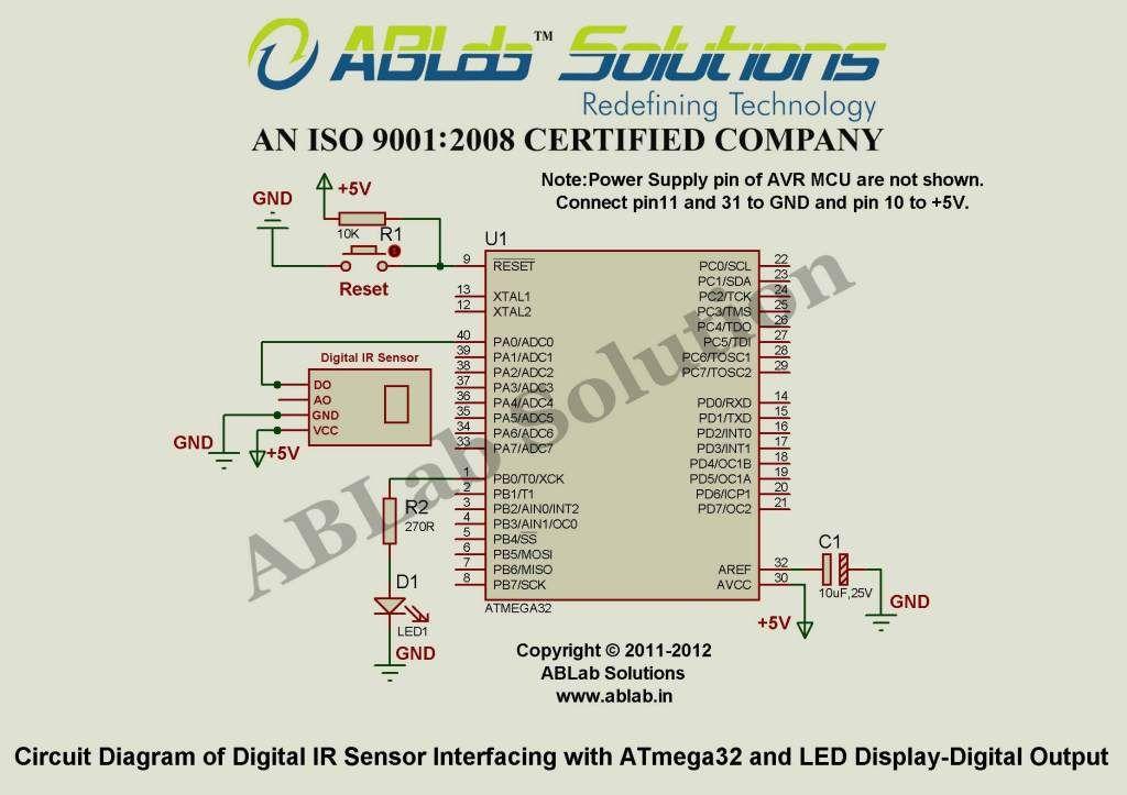 Learn Digital IR Sensor Interfacing with AVR ATmega32 ...