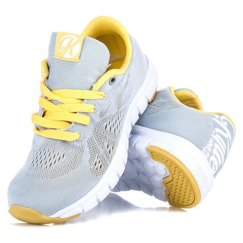 Kylie Sznurowane Obuwie Z Siateczka Szare Adidas Sneakers Shoes Sneakers