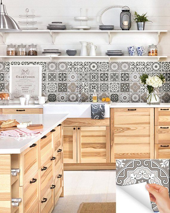 24 Tile Stickers Back Splash Talavera Style Stickers Mixed For Etsy In 2021 Kitchen Design Kitchen Design Small Best Kitchen Designs