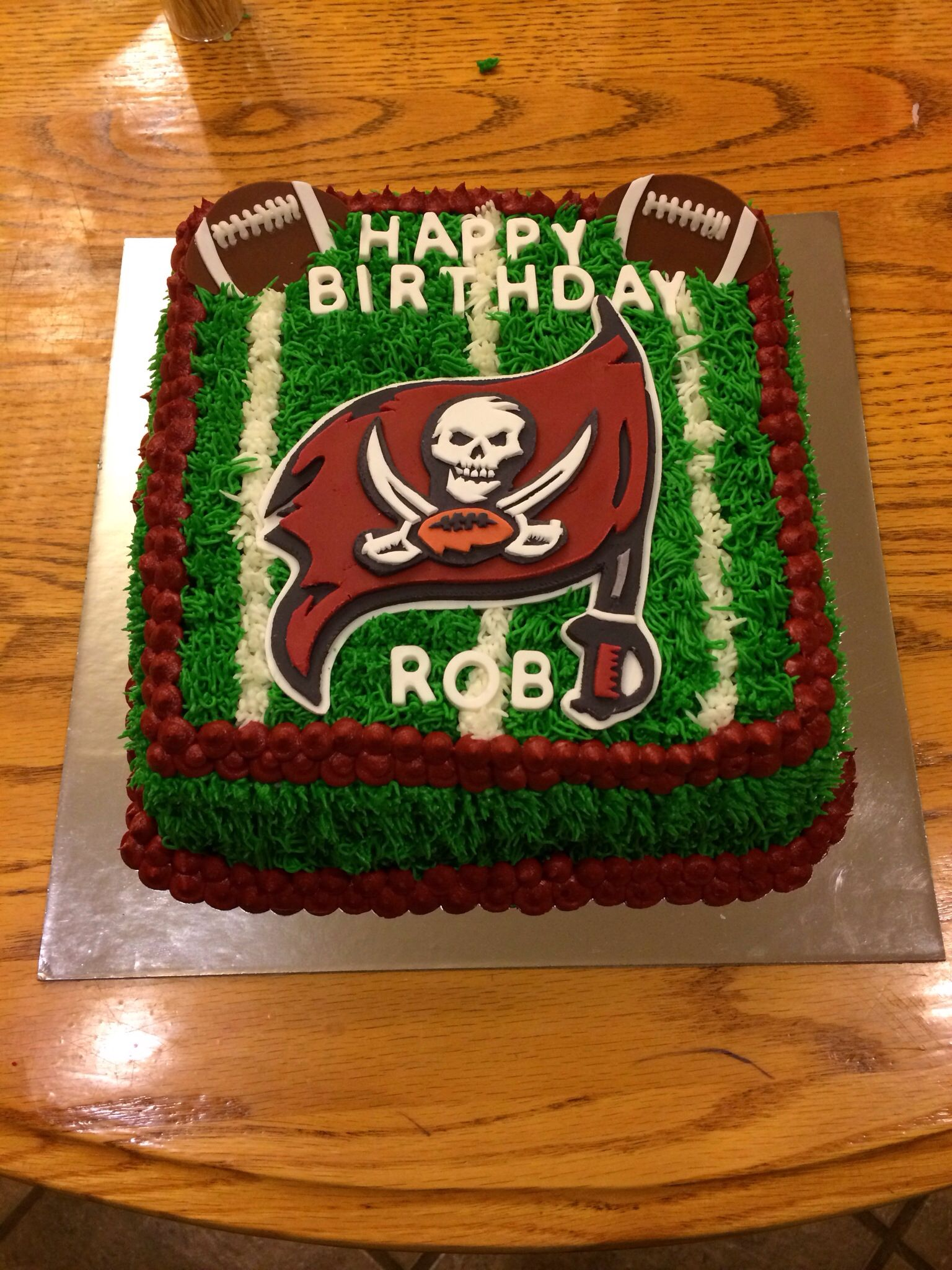 Tampa Bay Buccaneers Birthday Cake