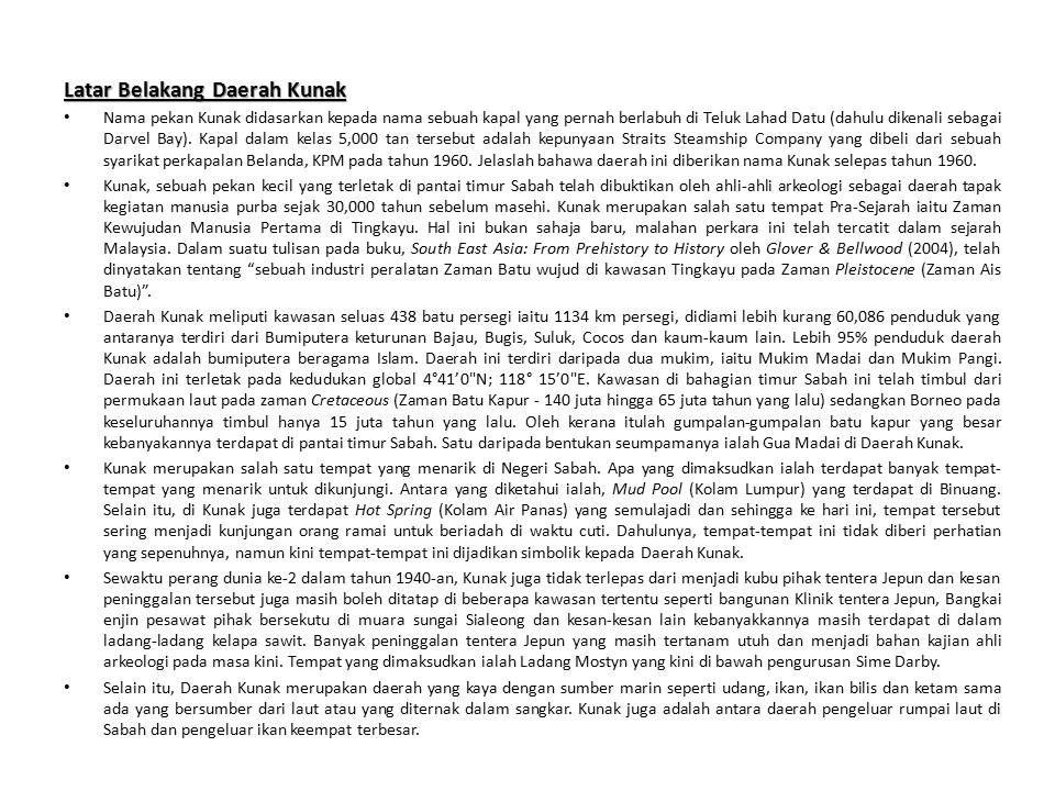 KUNAK LATARBELAKANG Words, Sabah, Word search puzzle