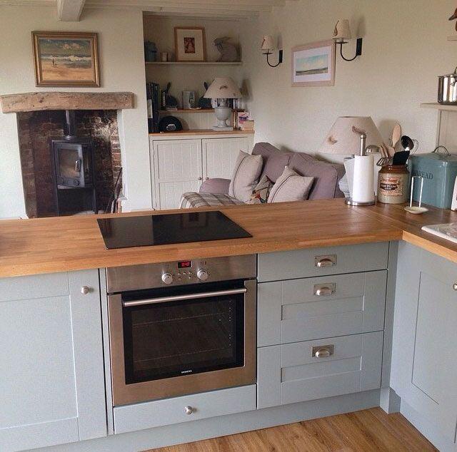 Duck Egg Blue Kitchen Cabinets