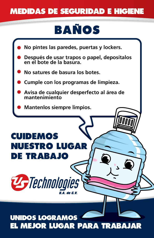 Cartel Campana De Comunicacion Interna Banos Programa De