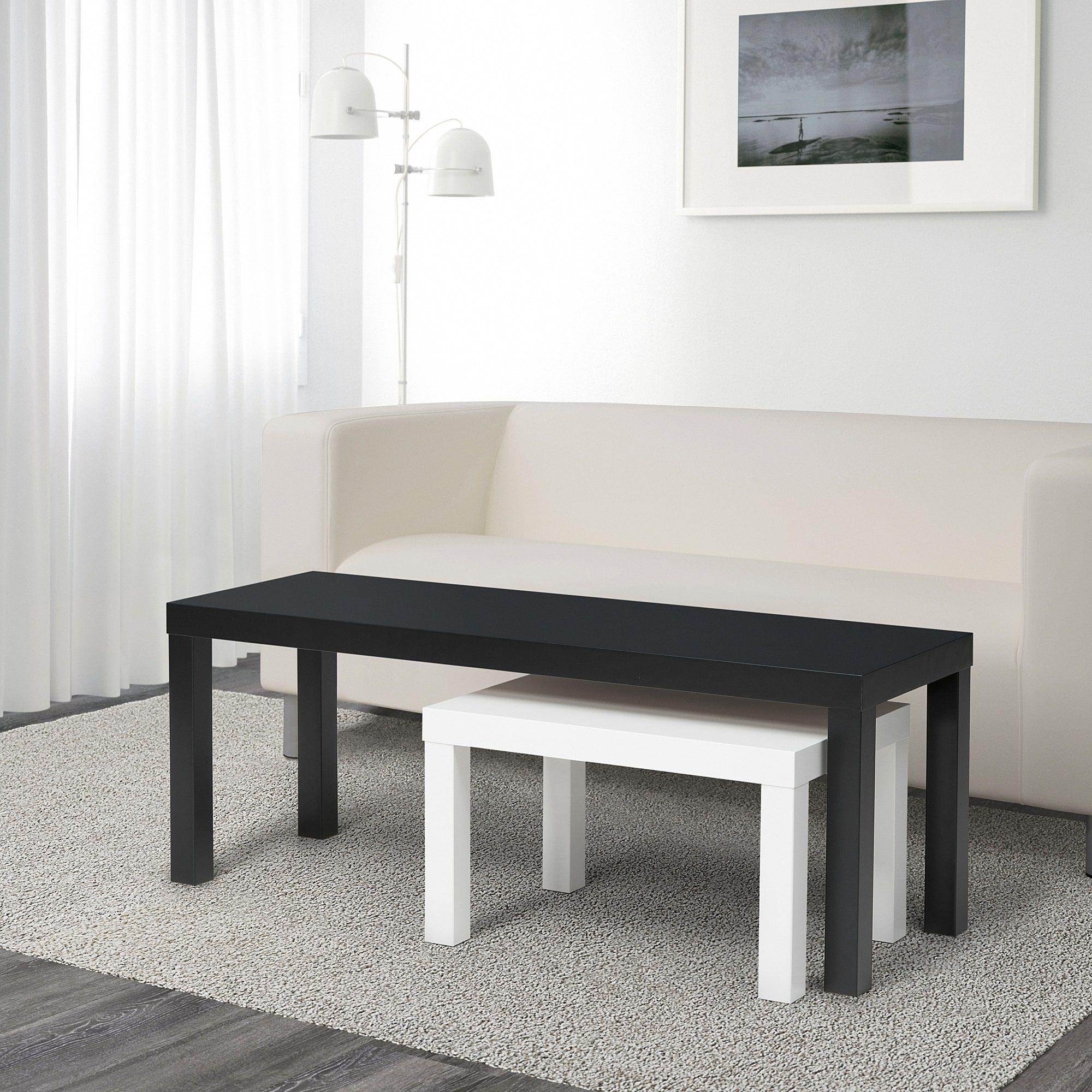 lack tables gigognes lot de 2 noir