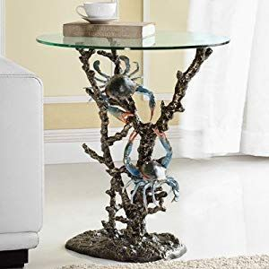 100+ Coastal End Tables and Beach End Tables - Beachfront Decor #coastallivingrooms Best Coastal Themed End Tables and Beach End Tables For Your Nautical Living Room! We love beachy furniture and coastal furniture in a living room. #coastallivingrooms