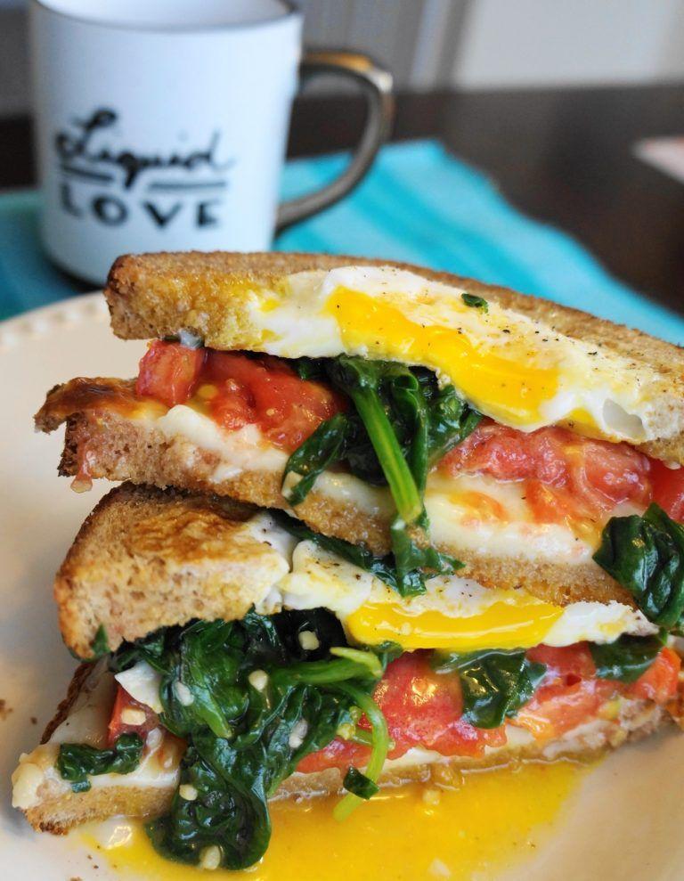 Egginahole breakfast sandwich busy girl healthy world