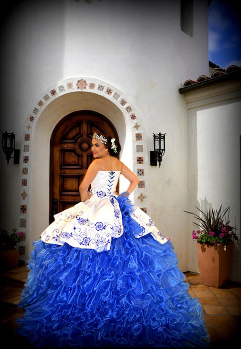Royal Blue Mexican Quinceanera Custom Made Quinceanera Etsy Quince Dresses Mexican Black Quinceanera Dresses Quincenera Dresses [ 1151 x 794 Pixel ]