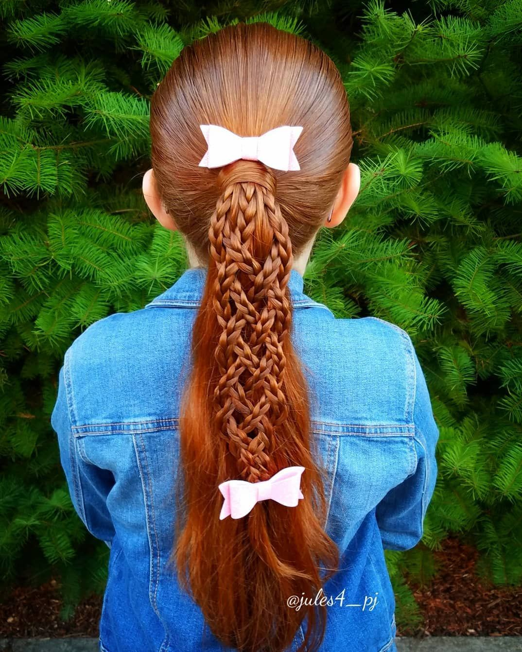 Cool ponytail styles woven braid cute girl hairstyles braids for