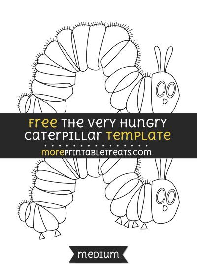 Free The Very Hungry Caterpillar Template - Medium | Shapes and ...
