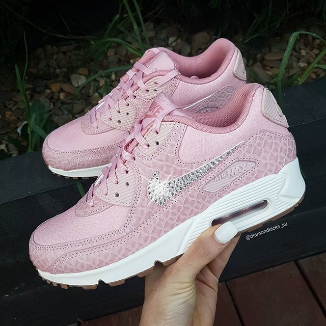 huge discount c51af 4c853 nike air max 90 premium pink red