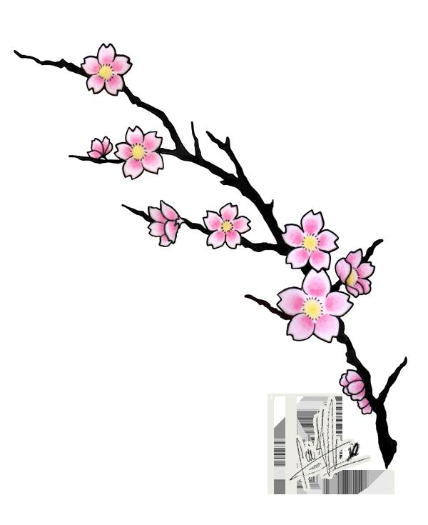 cherry blossom tattoos Cherry Blossom Tattoo Design by