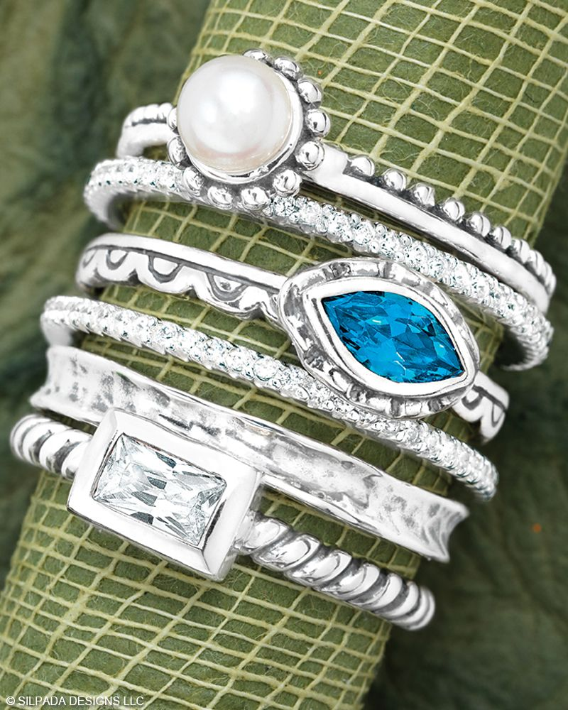 Belle Fleur Stack Rings Classic Ring Jewelry By Silpada
