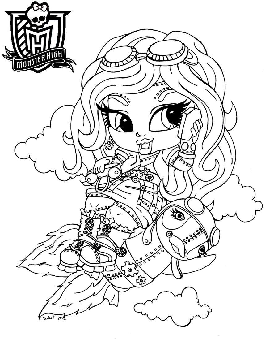 Baby Robecca, dibujo para colorear de Monster High. | Monster High ...