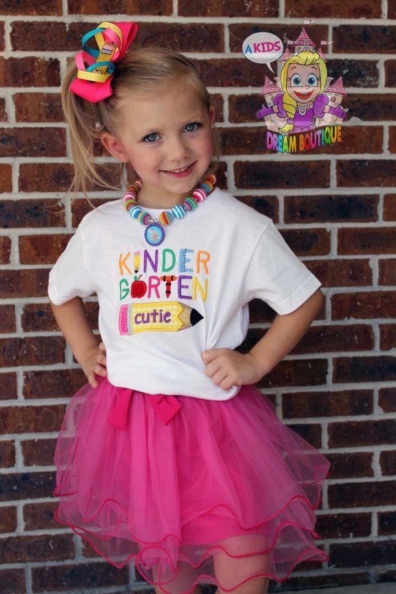 Kindergarten Cutie Back To School Shirt First Day Of