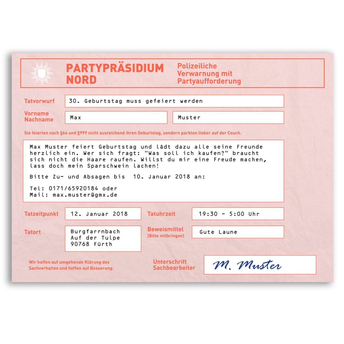 Jagt Mit Dieser Waschechten Strafzetteleinladung Euren Gasten Einen Schreck Ein Ht Einladungskarten Einladungen Geburtstag Kostenlos Einladungskarten Hochzeit