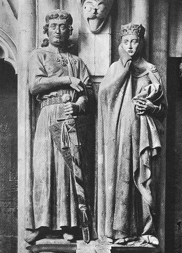 Mantles and long cotes. 11-13th centuries.  Naumberg. Count Eckhart and Uta.jpg (608×846)