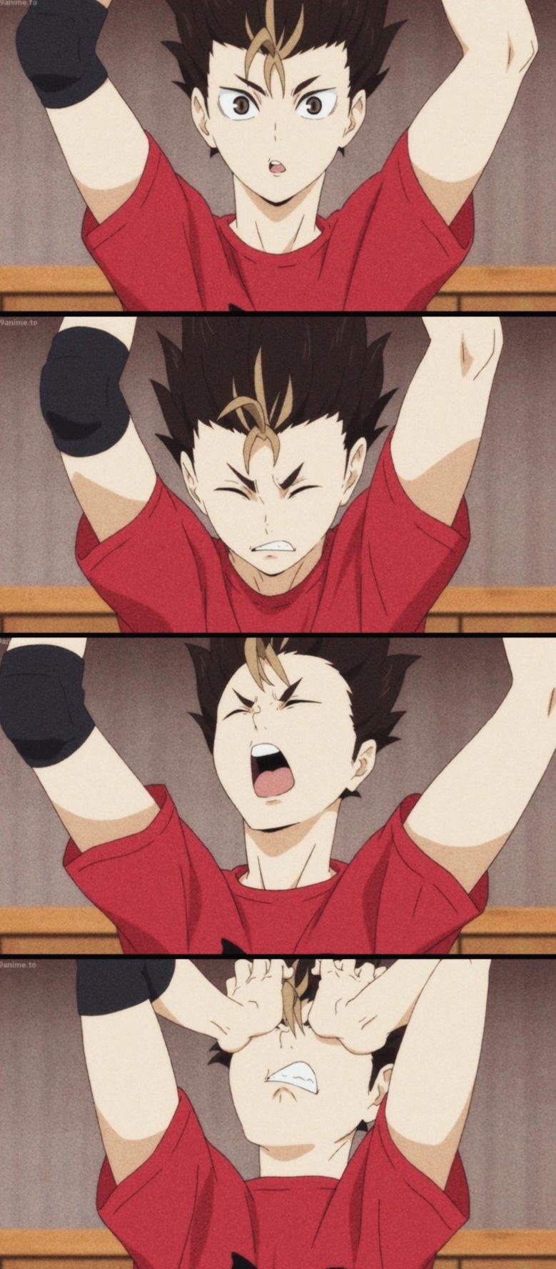 || AIRYUU ON PINTEREST || Haikyuu!! 4 fourth season, episode 06; Nishinoya Yuu #anime #nishinoya #nishinoyayuu #haikyuu #hq wallpaper libero collage, so cute