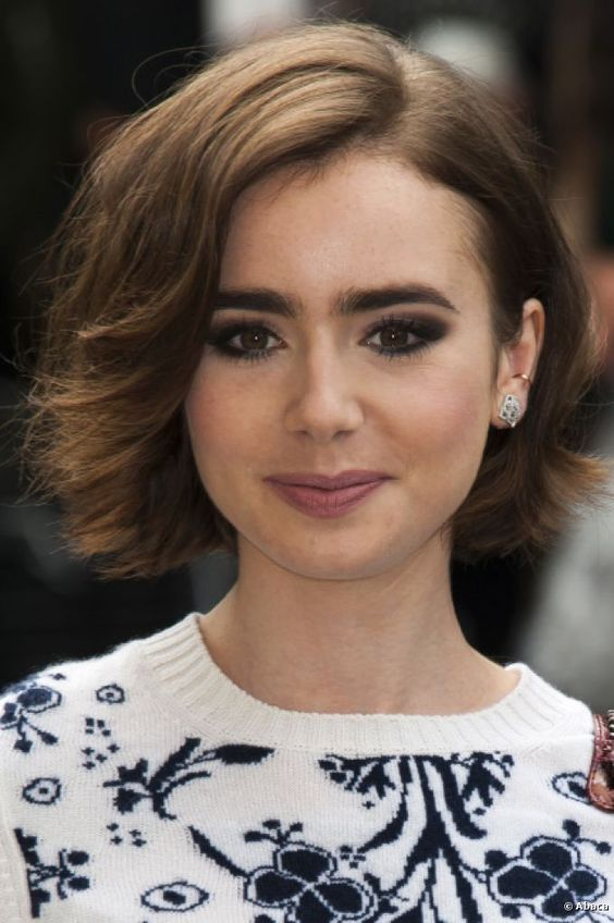 Pin By Alexx On Hair Styles Pinterest Lily Collins Hair