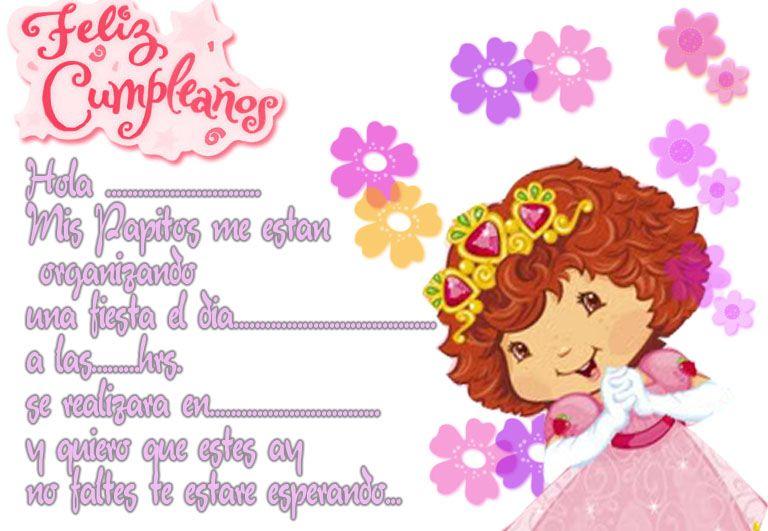 Invitaciónes de frutillita bebé para imprimir gratis - Imagui ...