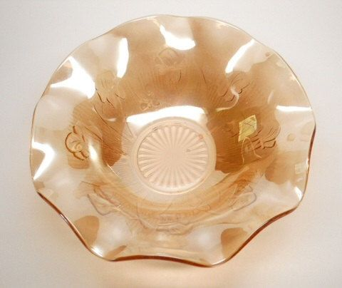 12 Vintage Jeannette Glass Iris and Herringbone by ClevelandFinds, $29.99