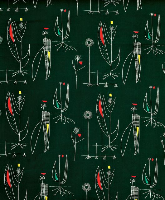 lucienne day textile herb antony 1956 nifty fifties. Black Bedroom Furniture Sets. Home Design Ideas