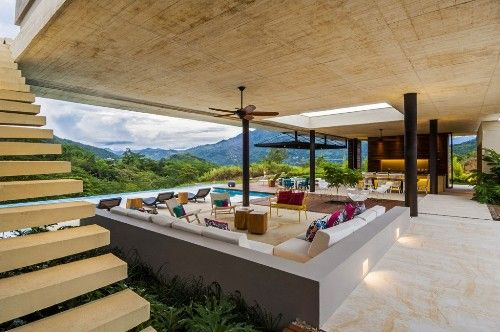 A Sunken Living Room Is Kind Of Contemporary Design Representing Seating Area Enclosed