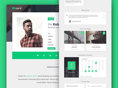 Material Design Resume CV and Portfolio