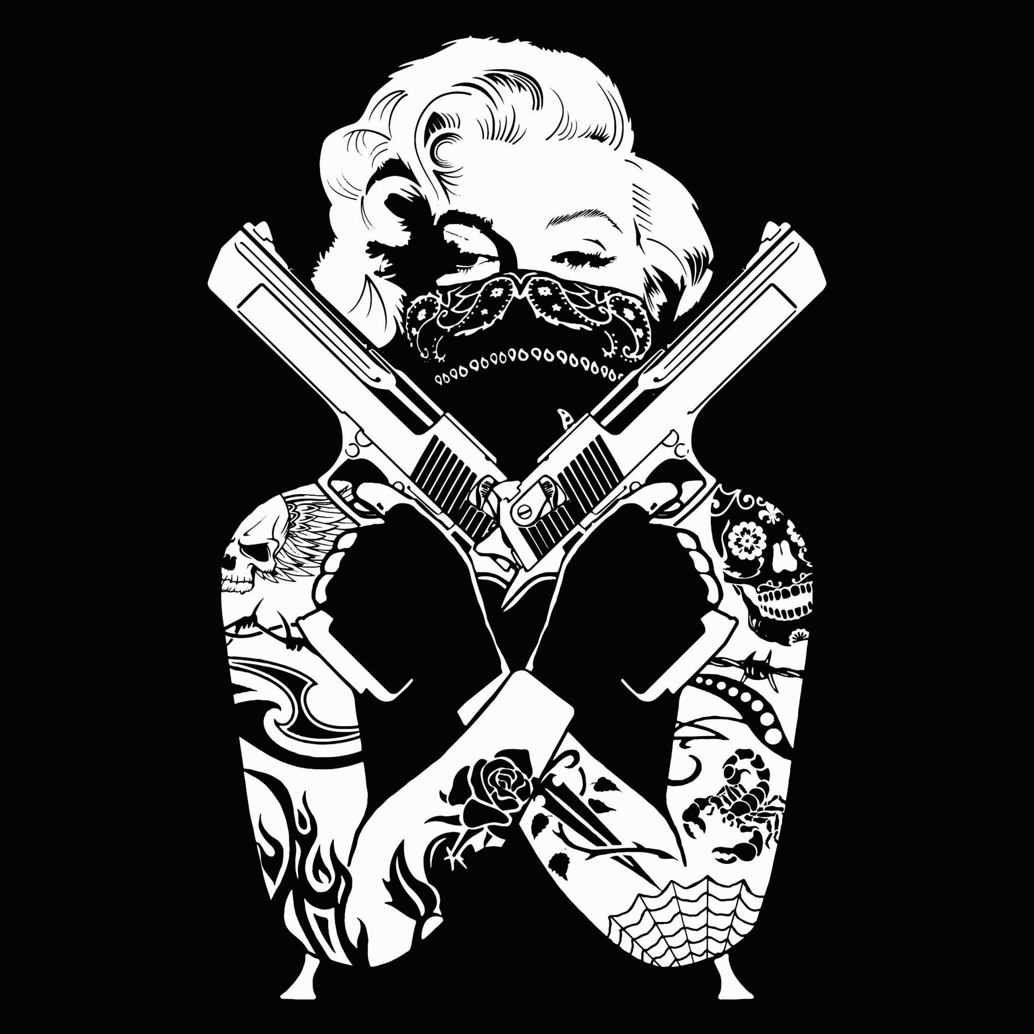 gangster wallpaper for computer Marilyn monroe tattoo