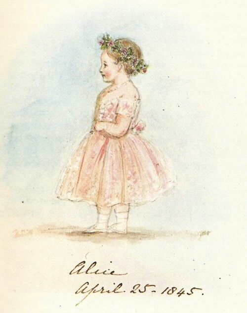 Drawing by Queen Victoria of her daughter Alice, 1845