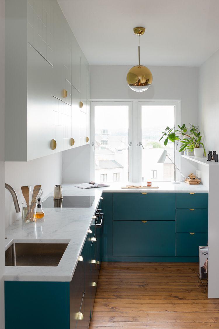 Cuisine Bleu Canard Et Bois Pour Se Plonger Dans Dynamisme Et
