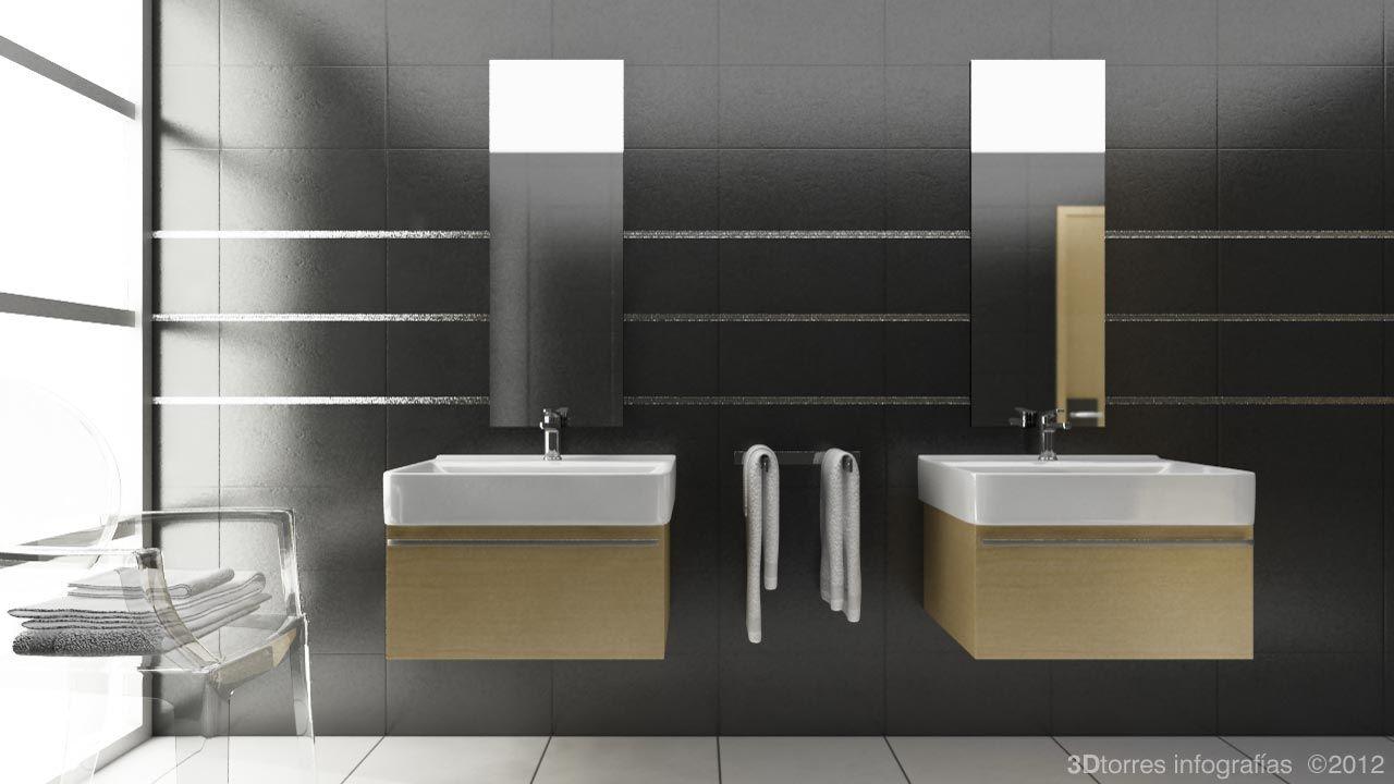 Cuarto de baño en 3D | Baños, Cuartos