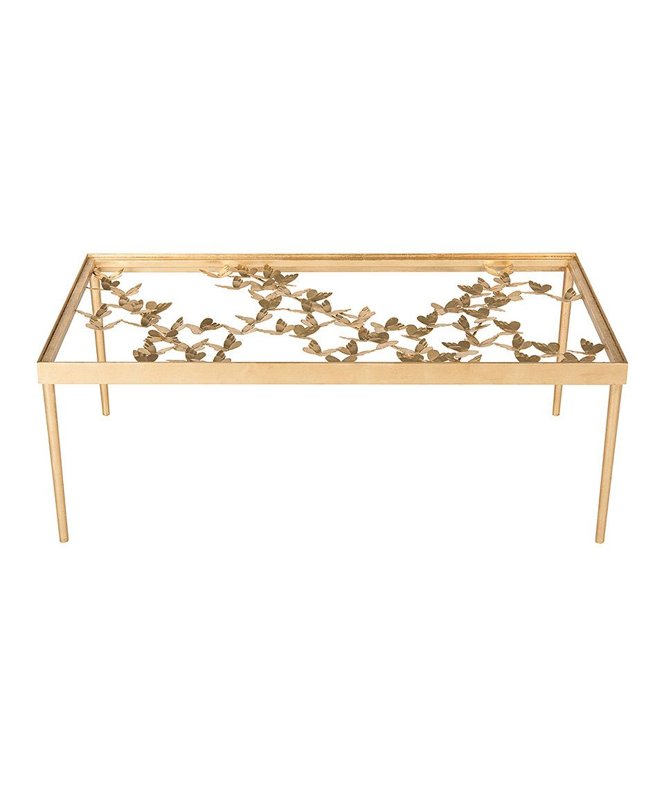 Take A Look At This Antique Gold Leaf Renee Butterfly Coffee Table Today Rectangle Glass Coffee Table Coffee Table Glass Coffee Table [ 1152 x 959 Pixel ]